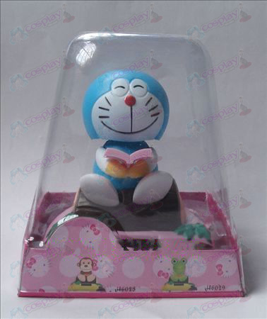 Sit wood Doraemon Solar Accessories Bobblehead (box height 15cm)