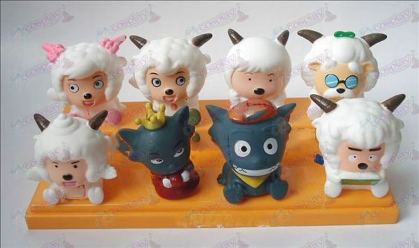 Pleasant and Wolf eight Tong glue Doll