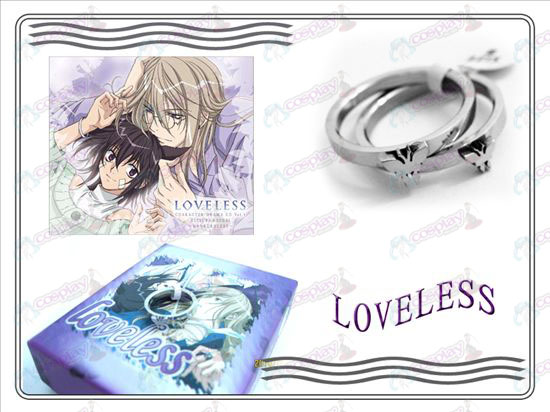 loveless butterfly stainless steel couple rings (A section)
