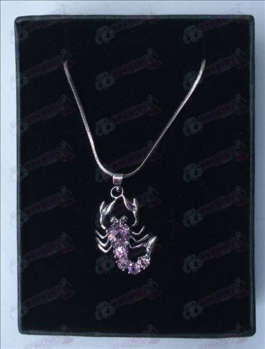 Saint Seiya Accessories scorpion necklace (purple)