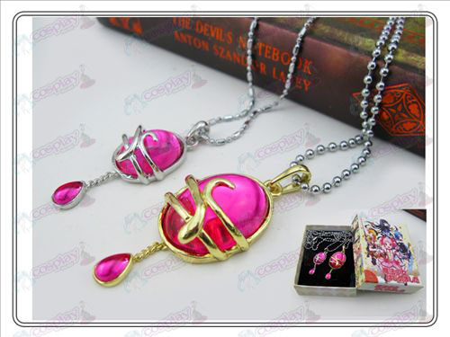 Magical Girl Accessories couple drop necklace Rose Red (A section) Boxed