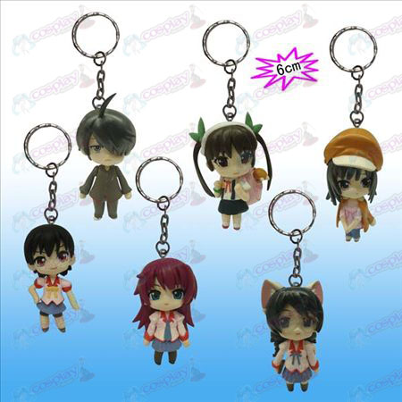 A generation of 6 Monogatari Accessories Doll Keychain