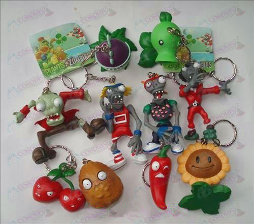 10 Plants vs Zombies Accessories Keychains