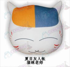 Natsume's Book of Friends Accessories cat teacher plush pillow (squinting)