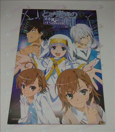 42 * 29A Certain Magical Index Accessories embossed posters (8 / set)