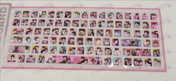 PVC keyboard stickers (world's first love)