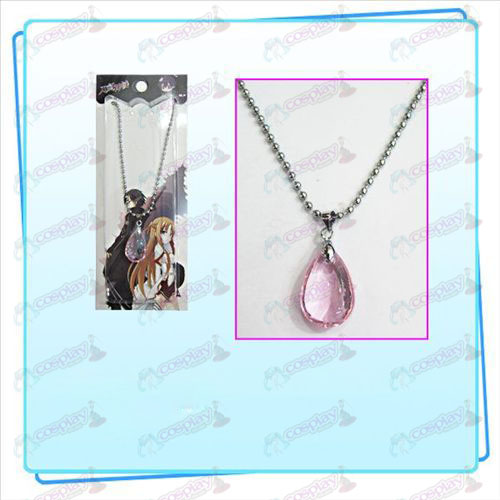 Sword Art Online Accessories Yui heart crystal necklace (pink)