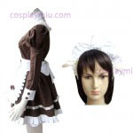 Brown Gothic Lolita Cosplay Costume