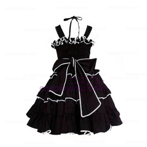 Tailor-made Black Gothic Lolita Cosplay Costume