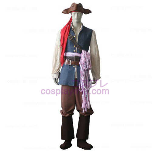 Pirates of the Caribbean Captain Jack Sparrow Cosplay Costume