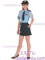 Orthodox Lady Police Costume of Blue Blouse and Black Miniskirt