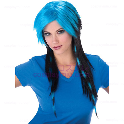 Blue Raccoon Tail Adult Wig - R.111.60