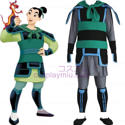 Kingdom Hearts 2 Mulan Men Cosplay Costume