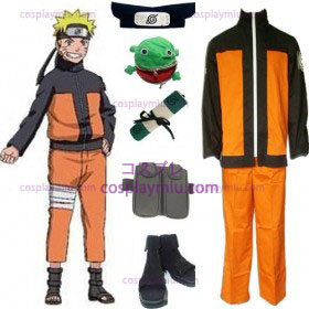 Naruto Shippuden Uzumaki Cosplay Costume and Accessories Set