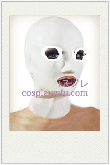 White Languid Mask with Shadow Eyes
