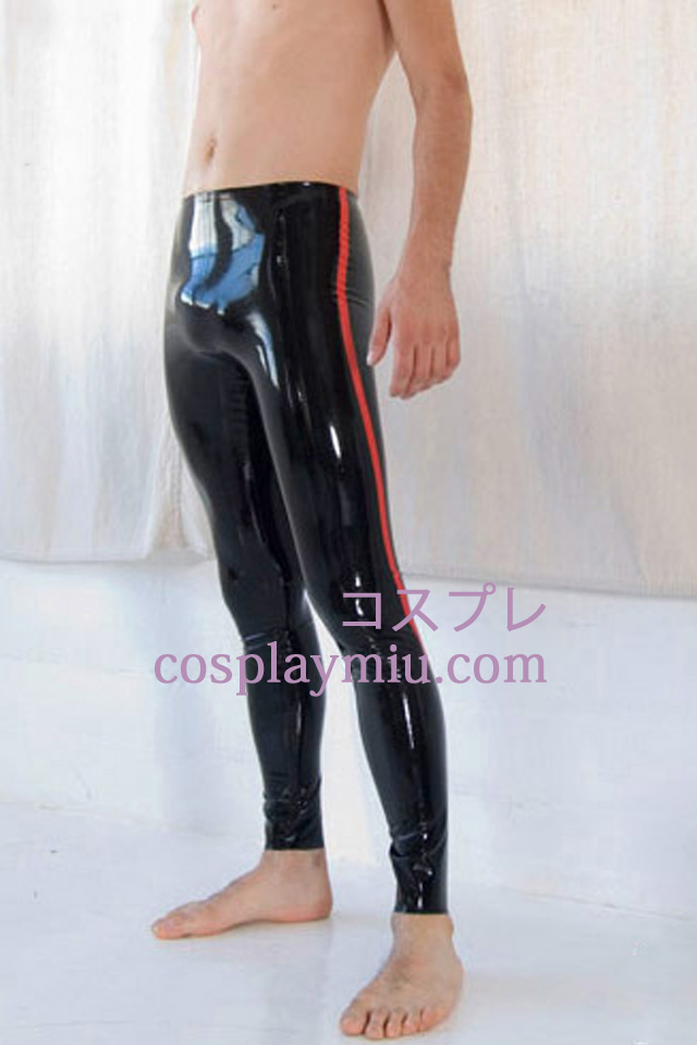 Black And Red Men's Latex Pants
