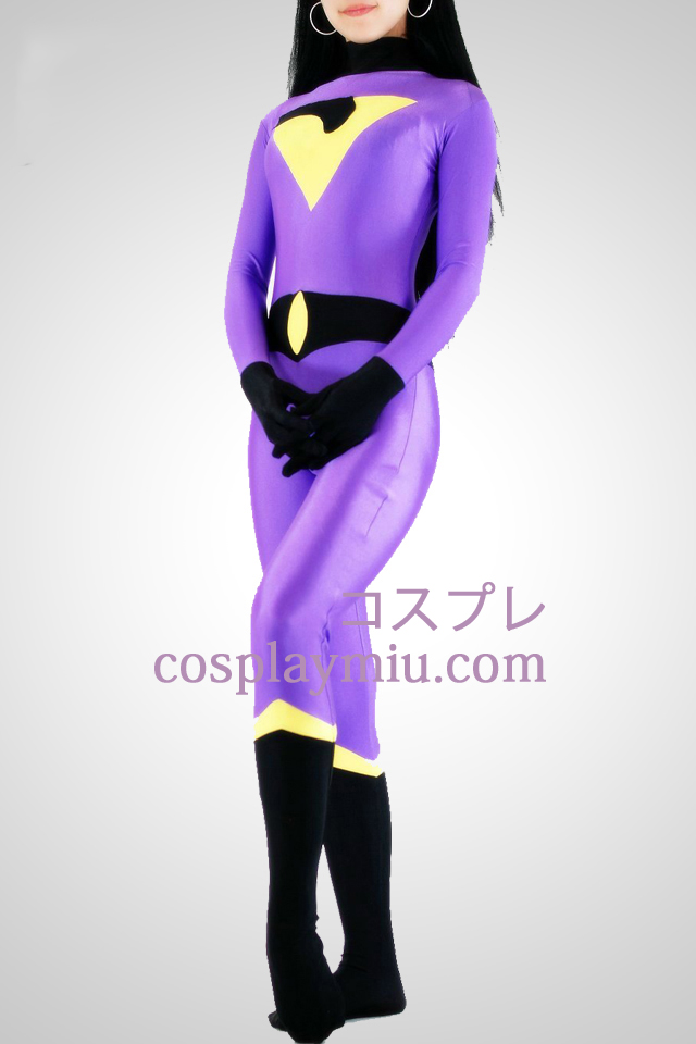 Three Colors Lycra Spandex Zentai Without Hood