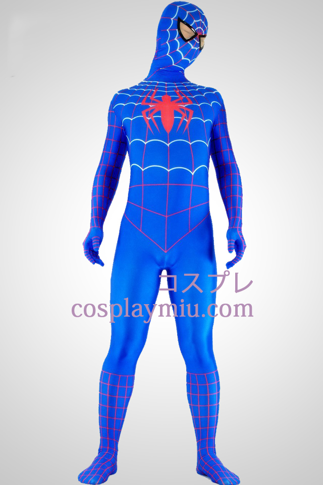 Red And Blue Lycra Spandex Spiderman Superhero Zentai Suit