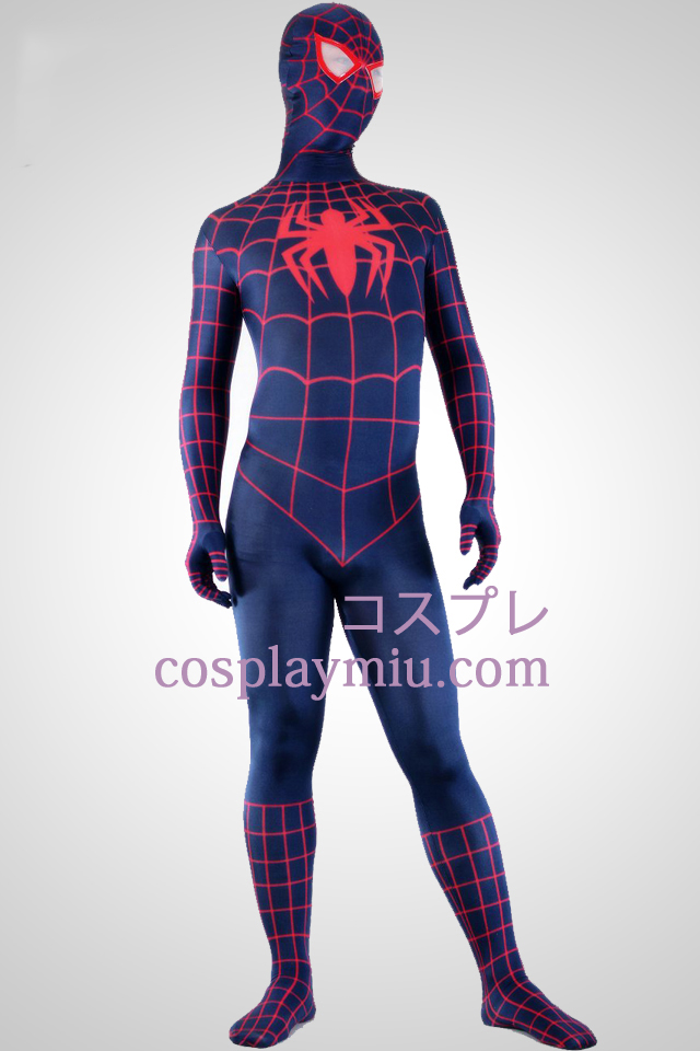Deep Blue And Red Lycra Spandex Spiderman Superhero Zentai Suit